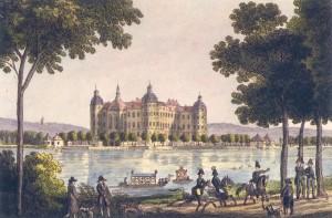 """""""Moritzburg um 1800"""" aus: Jahrbuch der staatlichen Schlösser, Burgen und Gärten in Sachsen. Bd. 11, 2003. Dresden 2004."""